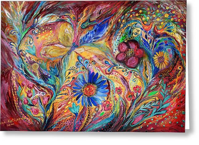 The Joyful Iris Greeting Card by Elena Kotliarker