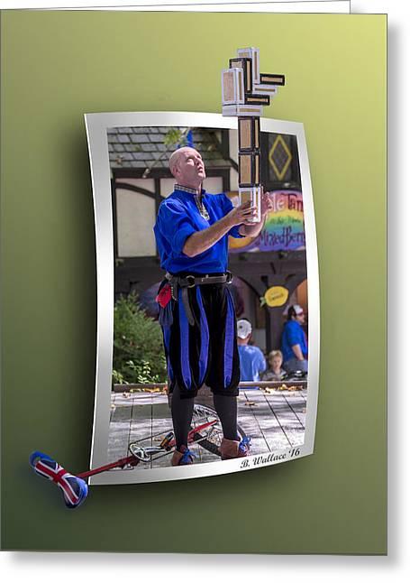 The Juggler Greeting Card by Brian Wallace