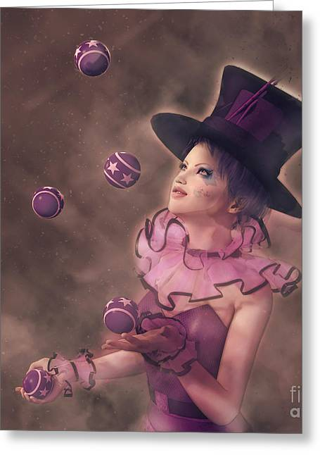 The Juggler Greeting Card by Methune Hively