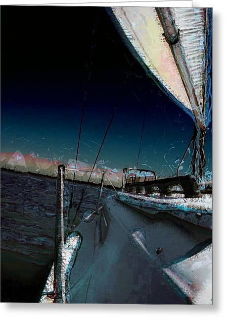 Boats On Water Greeting Cards - The Julianna 3 Greeting Card by Julie Lueders