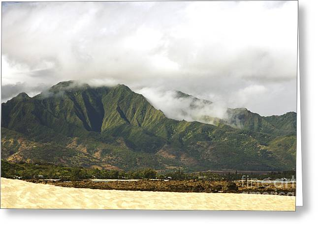 The Kaala Mountain Range Greeting Card by Vince Cavataio - Printscapes