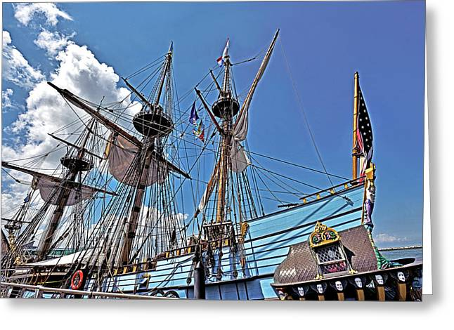 Greeting Card featuring the photograph The Kalmar Nyckel - Delaware by Brendan Reals