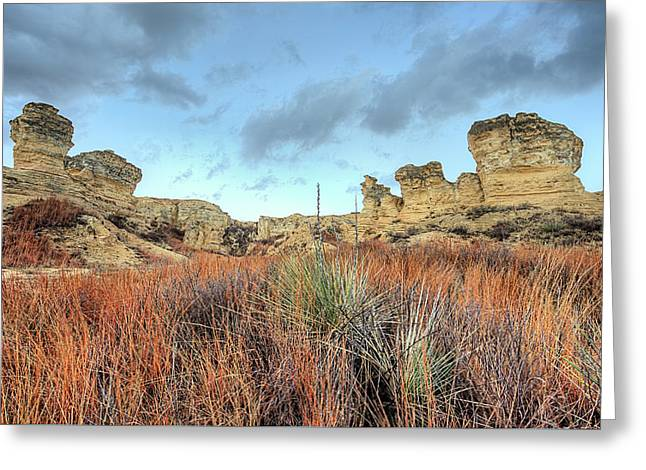 Greeting Card featuring the photograph The Kansas Badlands by JC Findley