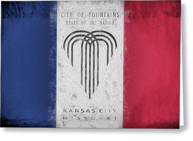 Greeting Card featuring the digital art The Kansas City Flag by JC Findley
