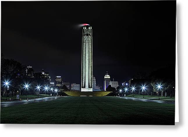 Greeting Card featuring the photograph The Kansas City Liberty Memorial by JC Findley