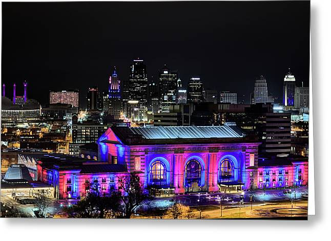 Greeting Card featuring the photograph The Kansas City Skyline by JC Findley