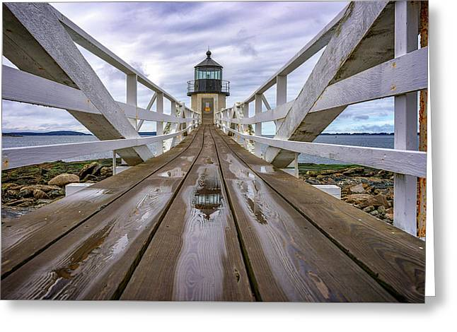 The Keeper's Walkway At Marshall Point In Color Greeting Card