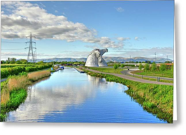 The Kelpies, Helix Park, Scotland Greeting Card by Alba Photography