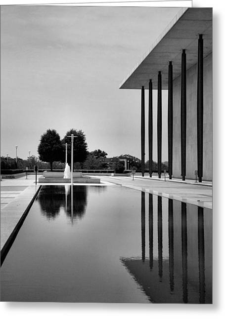 Architectural Photography Greeting Cards - The Kennedy Center Greeting Card by Steven Ainsworth