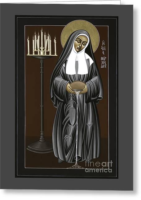 The Kenosis Of St Bernadette Of Lourdes 063 Greeting Card