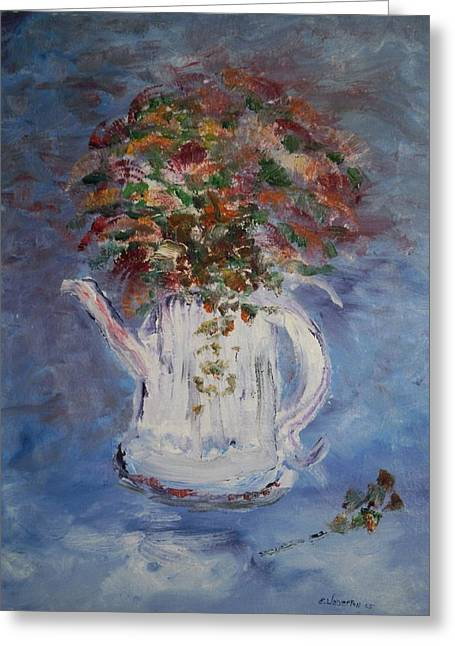 The Kettle Vase Greeting Card by Edward Wolverton