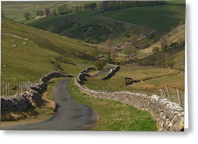 The Kettlewell To Leyburn Road Greeting Card
