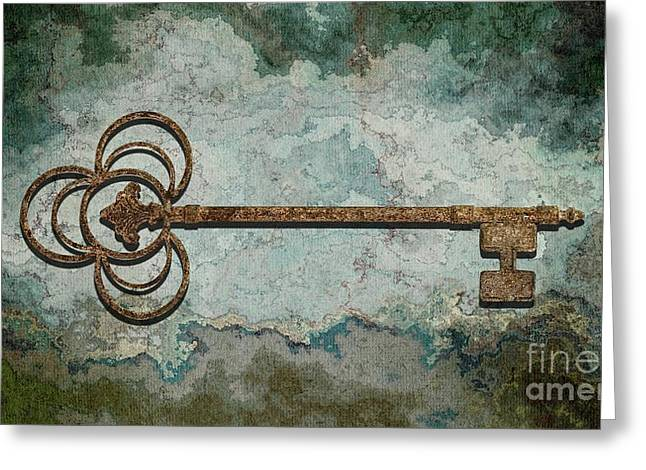 The Key - 01t Greeting Card by Variance Collections
