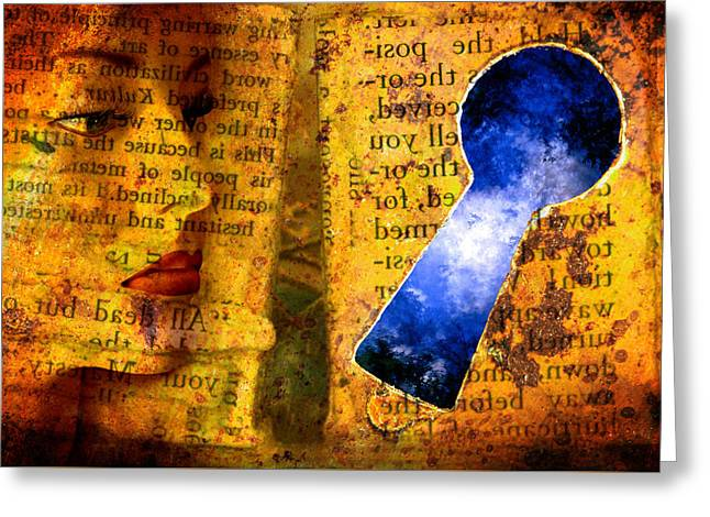 The Key Hole Greeting Card by Andrew Giovinazzo
