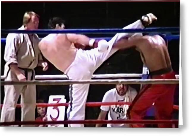 The Kickboxer  Greeting Card