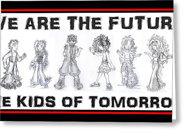 The Kids Of Tomorrow 1 Greeting Card by Shawn Dall