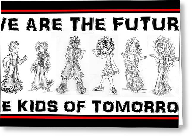 The Kids Of Tomorrow 2 Greeting Card by Shawn Dall