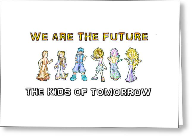 Greeting Card featuring the digital art The Kids Of Tomorrow by Shawn Dall