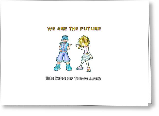 Greeting Card featuring the digital art The Kids Of Tomorrow Toby And Daphne by Shawn Dall