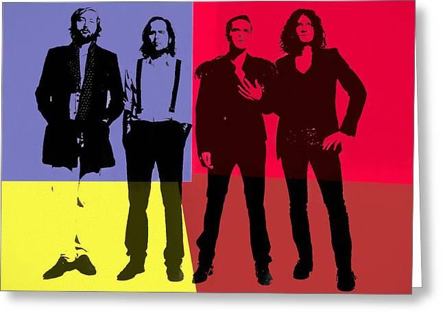The Killers Pop Art Panels Greeting Card