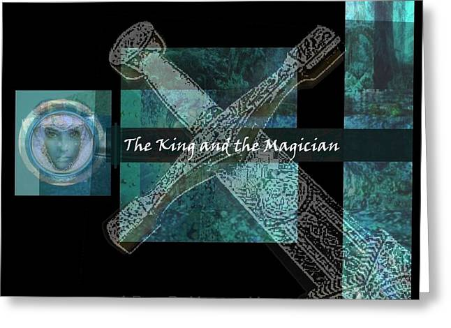 The King And The Magician Cover Art Greeting Card