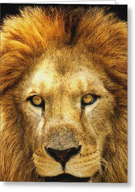 The King Greeting Card by Celestial Images