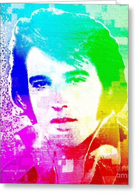 Elvis Presley In Pop Art Greeting Card