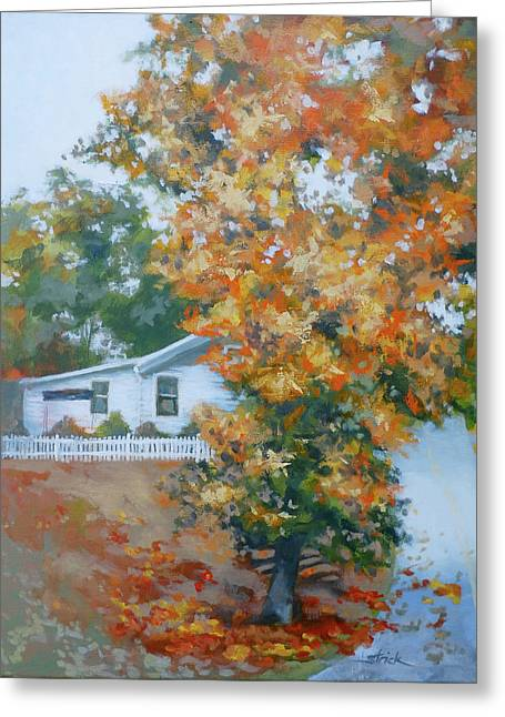 The King Of King Street Greeting Card by Carol Strickland
