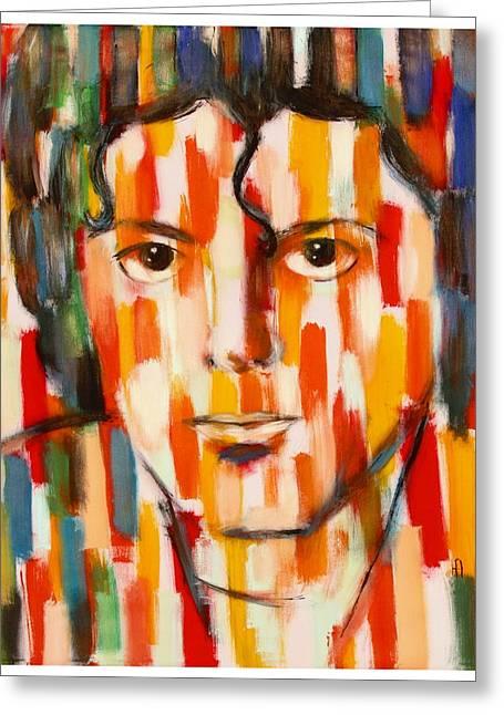 the king of pop Michael Jackson Greeting Card by Habib Ayat