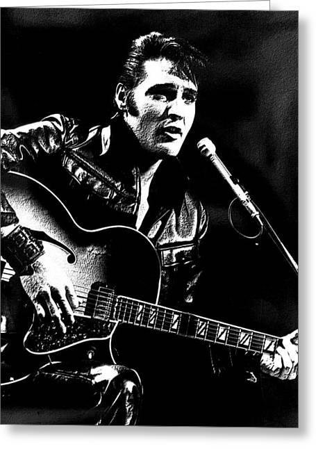 The King Of Rock Greeting Card by VRL Art