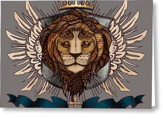 The King's Heraldry II Greeting Card