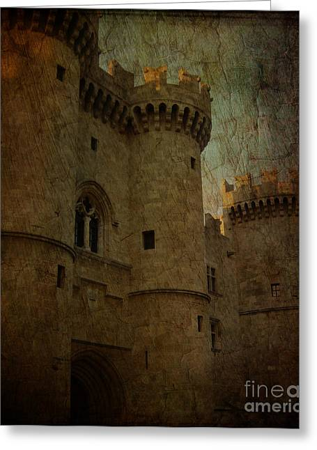 The King's Medieval Layer Greeting Card by Lee Dos Santos