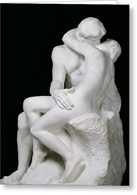 The Kiss Greeting Card by Auguste Rodin