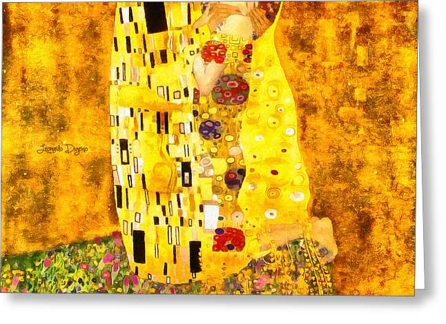 The Kiss By Gustav Klimt Revisited - Da Greeting Card