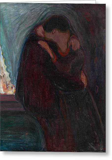 The Kiss Greeting Card by Edvard Munch