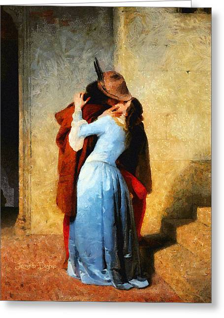 The Kiss Of Hayez Revisited Greeting Card