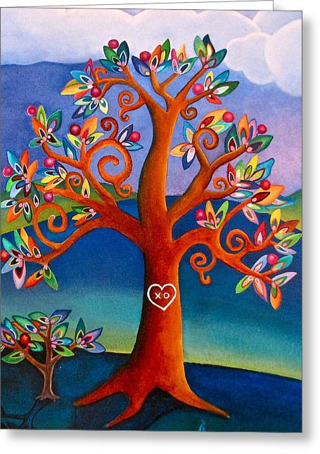 The Kissing Tree Greeting Card by Lori Miller