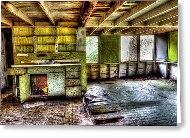 The Kitchen Greeting Card by Mike Eingle