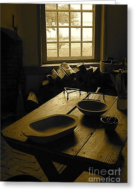 Greeting Card featuring the photograph The Kitchen by Nicola Fiscarelli