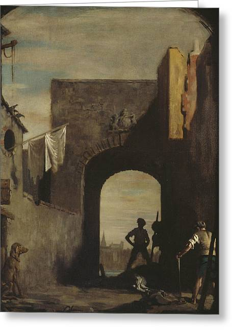 The Knacker's Yard Greeting Card by William Orpen