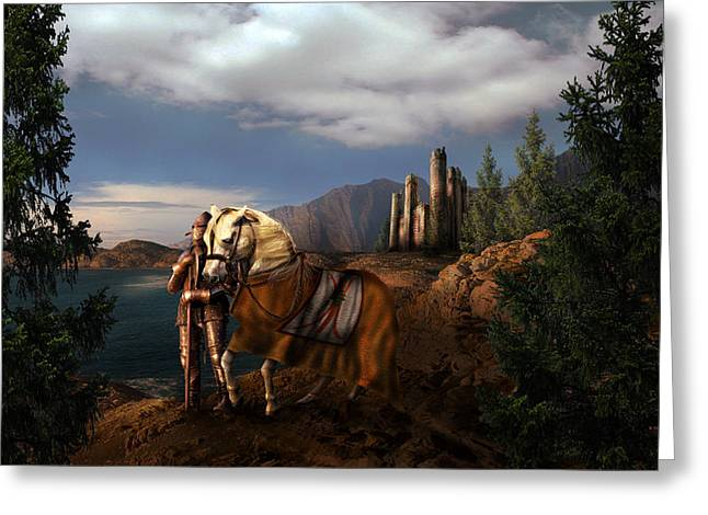 The Knight Of The Kingdom Greeting Card by Virginia Palomeque