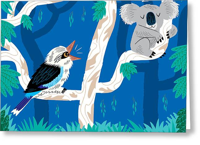 The Koala And The Kookaburra Greeting Card