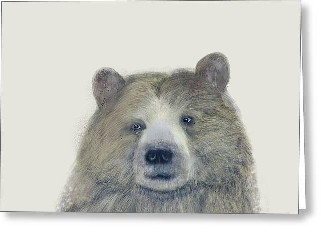 The Kodiak Bear Greeting Card by Bri B