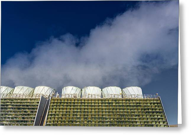 The Krafla Geothermal Power Station Greeting Card by Panoramic Images