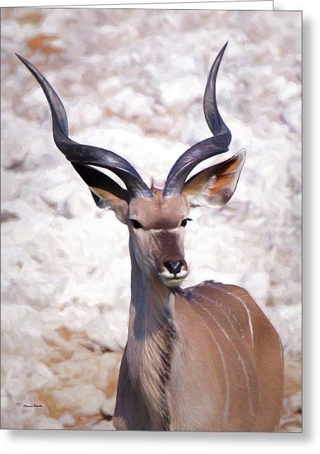 The Kudu Portrait 2 Greeting Card by Ernie Echols