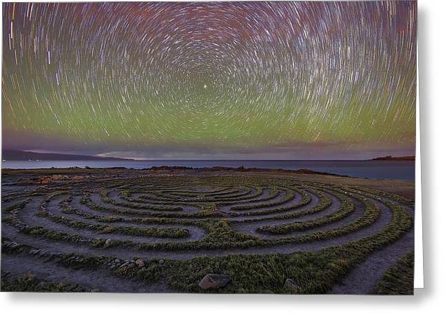 The Labyrinth And The Universe Greeting Card by Todd Kawasaki