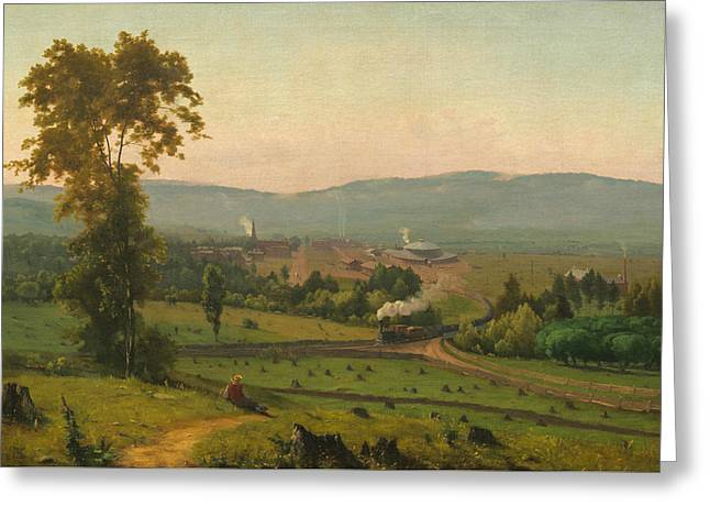 The Lackawanna Valley Greeting Card by George Inness