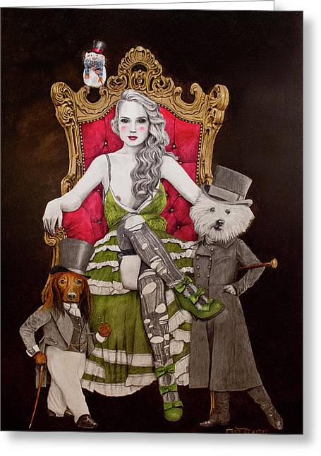 The Lady Of Erstwhile And The Royal Guard Greeting Card