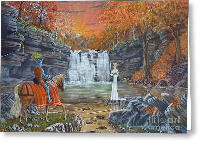 The Lady Of The Lake Greeting Card