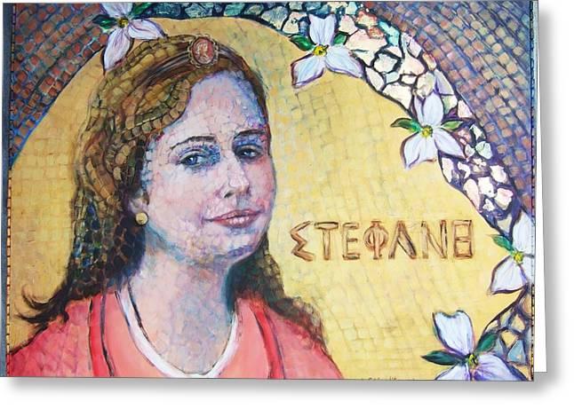 The Lady Stephanie Greeting Card by Lee Anne Stieglitz